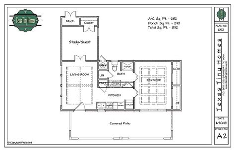tiny house on foundation plans plan 652