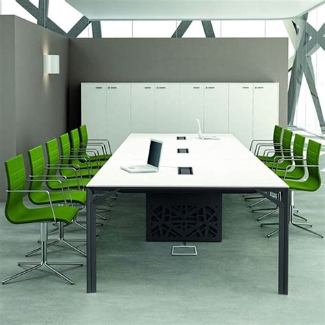 Large Meeting Table Office X8 Meet Large Boardroom Table In Metal And Laminate Available In Different Dimensions
