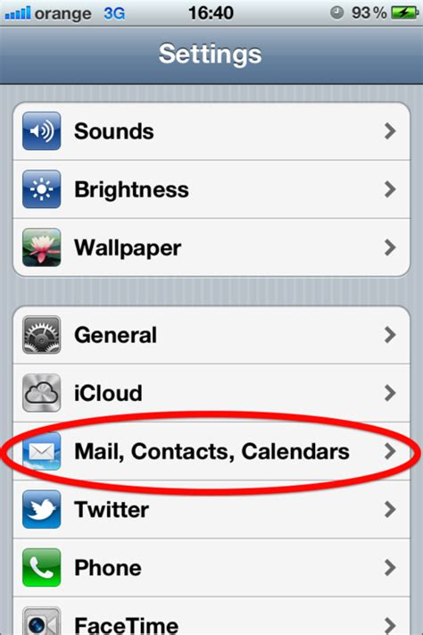 setting   email account   iphone web
