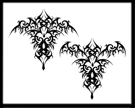 gothic tribal tattoos bat tribal design