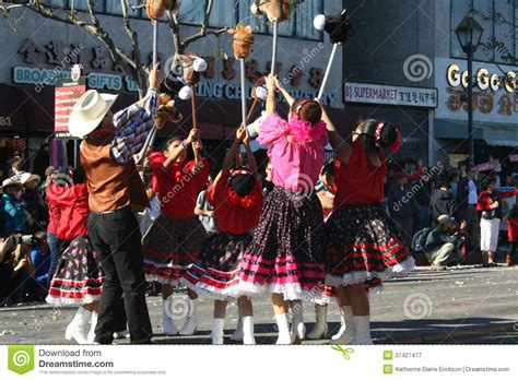 new year parade los angeles parade dancers editorial photography image 37427477