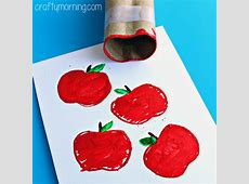 Make Apple Stamps Using a Toilet Paper Roll - Crafty Morning Empty Toilet Paper Roll Png
