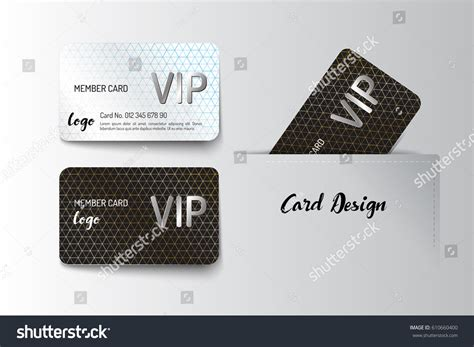 illustrator membership card template member vip business card template design stock vector