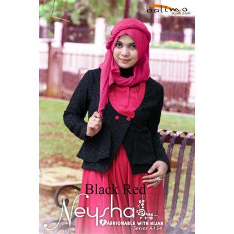 Balimo Terlaris balimo neysha black baju muslim gamis modern