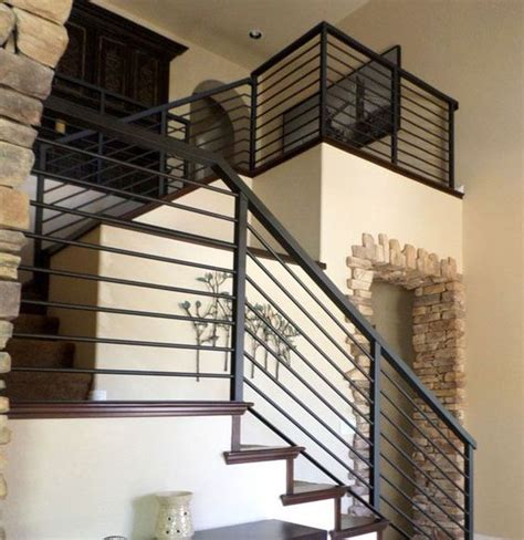 Metal Banister Rails Iron Stair Railing Stair Railing And Wrought Iron Stair