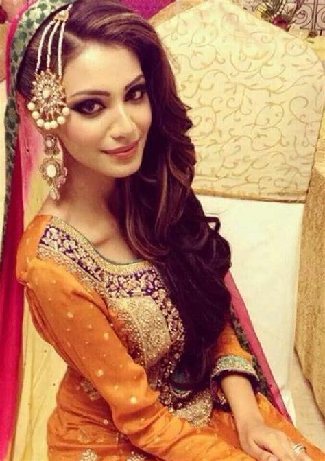desi pakistani hairstyles lehenga choli indian shaadi bridal fashion style