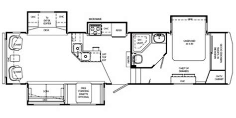 holiday rambler fifth wheel floor plans 2008 holiday rambler alumascape fifth wheel series m 32ckq