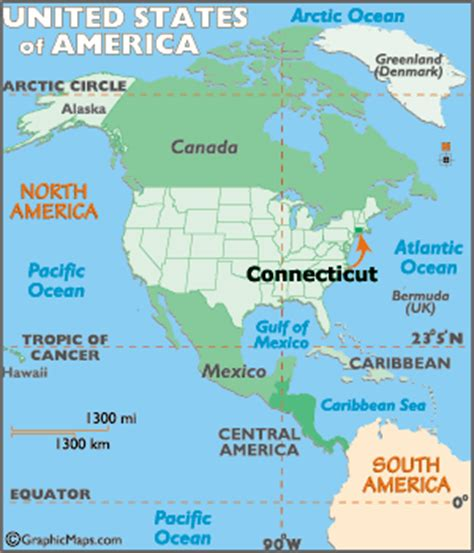 connecticut map / geography of connecticut/ map of