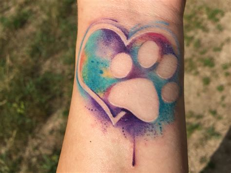 tattoo animal watercolor watercolor heart and paw print tattoo by daniel baker