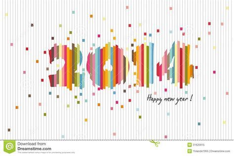 new graphic design the creative design 2014 happy new year cutting paper stock vector image 31620915