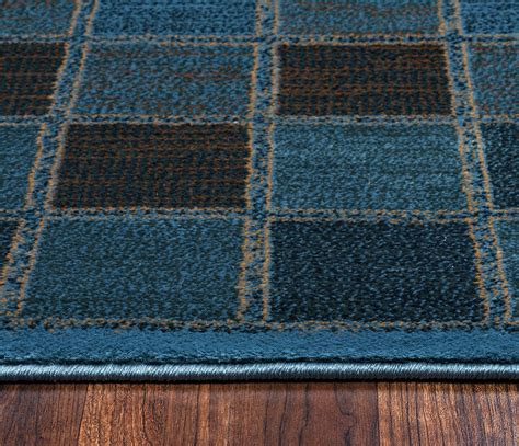 3 area rugs bellevue checker pattern area rug in blue 3 3 quot x 5 3 quot
