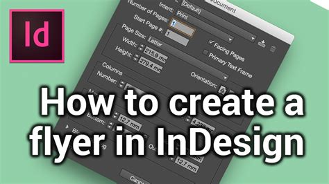 flyer design how to how to create a new page make a flyer in indesign 1 6