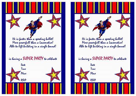 superman birthday card template superman birthday invitations birthday printable