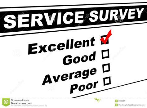Survey Services - excellent customer service survey stock image image 8669087