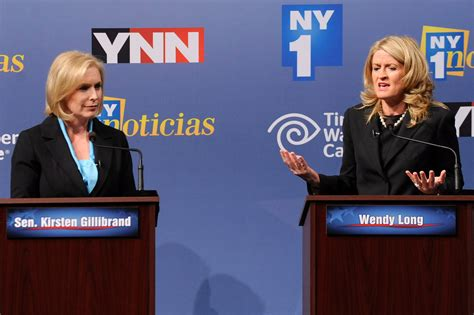 kirsten gillibrand nytimes gillibrand and long clash in debate for u s senate the