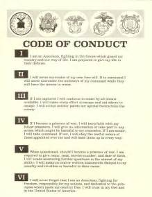 workplace code of conduct template navy sere 50 years of returning home with honor navy live