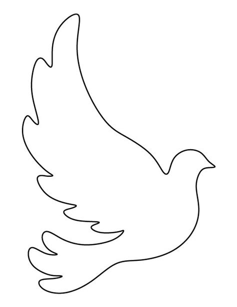 printable bird template dove pattern use the printable outline for crafts