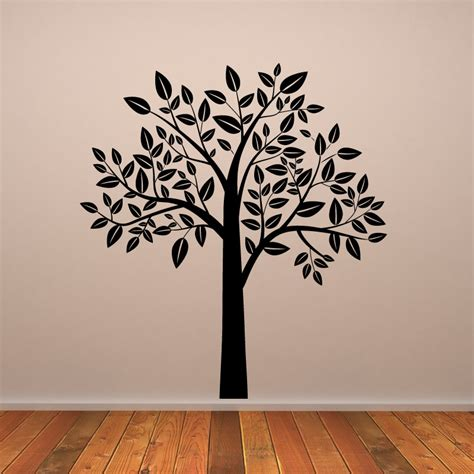 leafy tree wall stickers wall decal transfers ebay