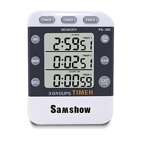 Kitchen Timer Big W by Samshow Digital Kitchen Cooking Timer Clock 3 Channels