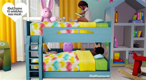 the sims 4 bed cc sims 4 cc s the best functional toddler bunk bed frame