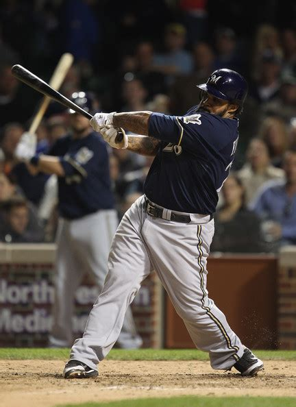 prince fielder swing price fielder pictures milwaukee brewers v chicago cubs