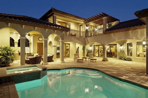 Sater Design Quot Casoria Quot Plan Mediterranean Pool Miami Sater Mediterranean Home Plans