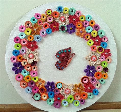 Craft Paper Designs - quilling wall frames model and designs quilling designs