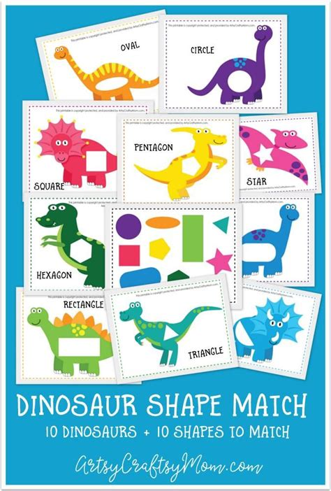 printable shapes matching game printable dinosaur shape match game montessori shapes