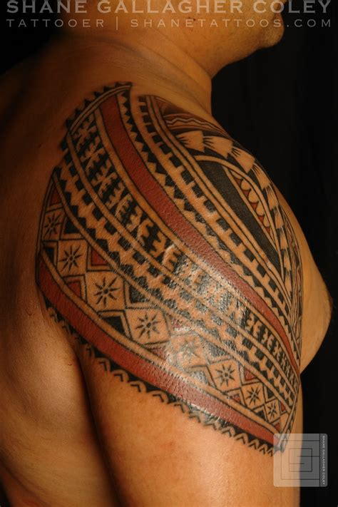 polynesian shoulder tattoo maori polynesian polynesian shoulder