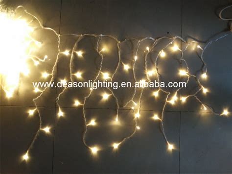 led falling icicle lights buy warm white led icicle