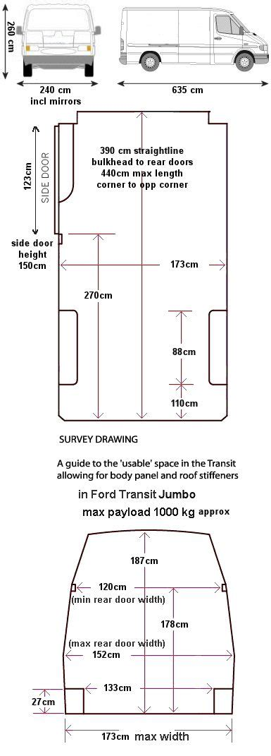 Ford Transit Interior Dimensions by Workable Dimensions Of Ford Jumbo Ford Transit