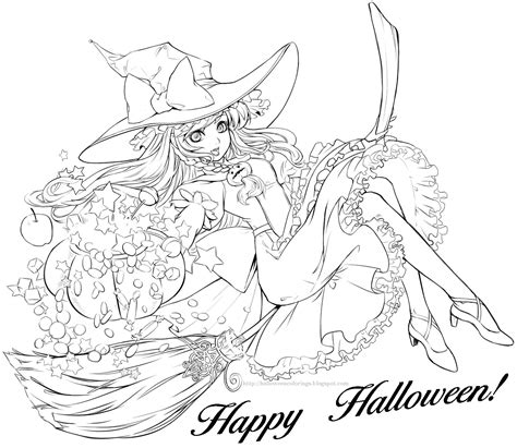 kawaii witches autumn coloring book an autumn coloring book for adults japanese anime witches cats owls fall festivities books 1000 images about coloring pages on coloring