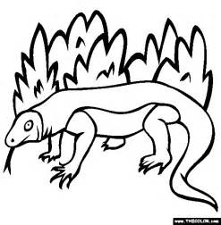 komodo dragon coloring page free komodo dragon online
