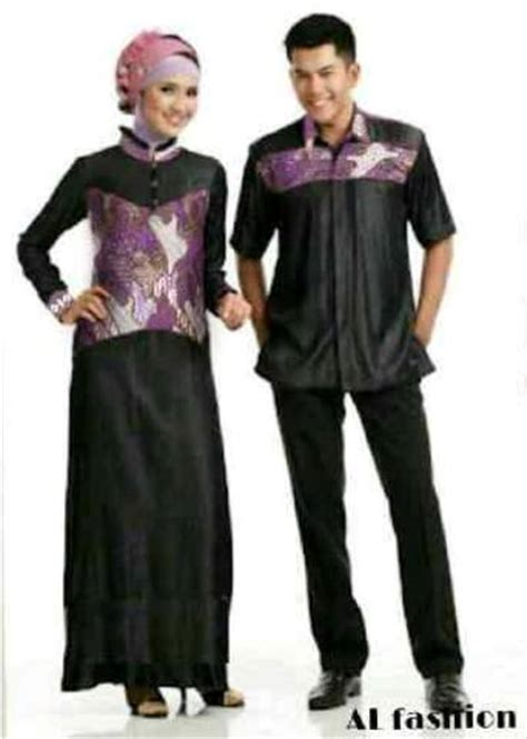 Nora Katun Rayon Baju Pasangan Baju Muslim Etnik Batik Koleksi Gamis
