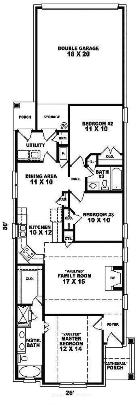 narrow lot house plans one story travella one story home plan 087d 0043 house plans and more