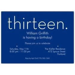 thirteen blue 13th birthday invitations paperstyle