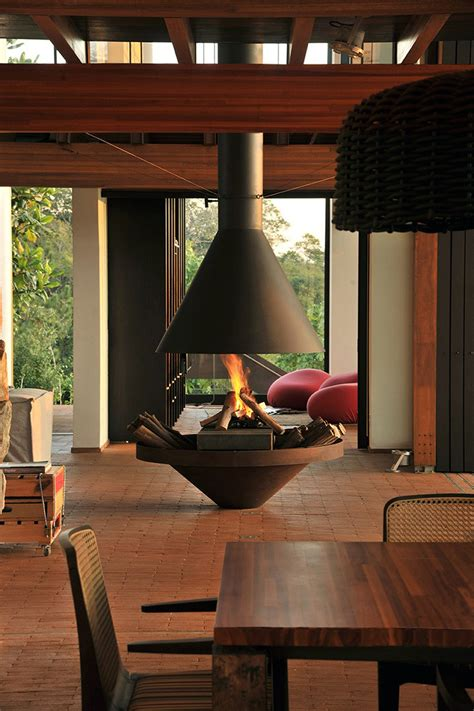 examples  freestanding fireplaces