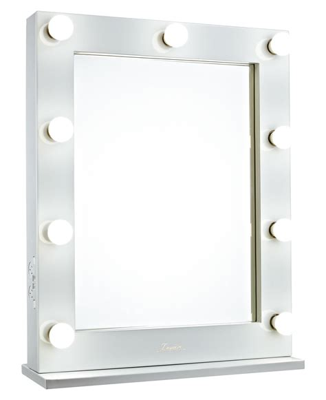 Glossy White Lighted Hollywood Vanity Makeup Mirror