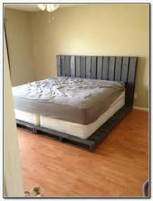 Wooden Pallet Bed Frame How To Make A Cheap Pallet Bed Frame Pallets Designs