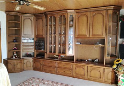 Wohnzimmer Wohnwand by Gro 223 E Wohnzimmer Wohnwand Schrankwand Eiche Rustikal