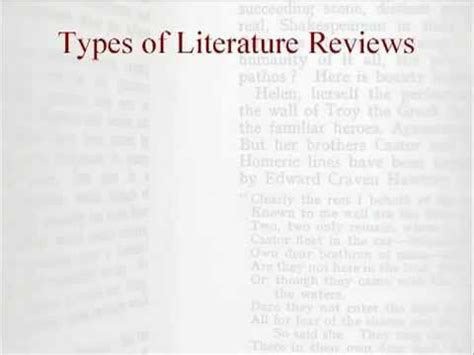4 Types Of Literature Reviews by Two Types Of Literature Reviews