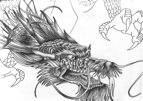 dragon head tattoo designs design