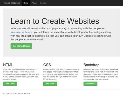 Bootstrap Layout Fixed | working with bootstrap 3 fixed layout tutorial republic