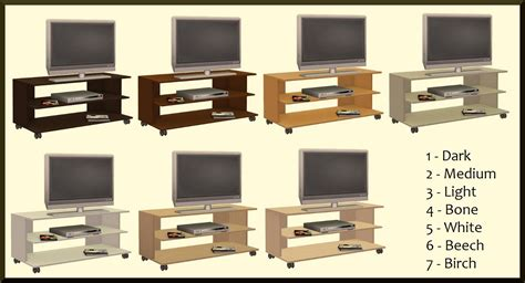 ikea benno tv bench mod the sims benno tv bench on castors recolors of the