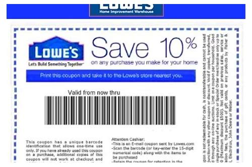 lowe's in store coupons november 2018