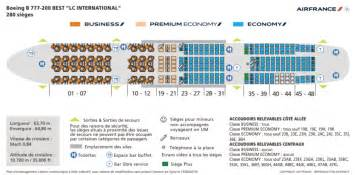 air plan de cabine des boeing 777 200er r 233 nov 233 s