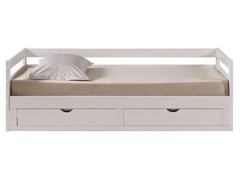 lit 90x190 conforama lit banquette gigogne 90x190 cm supercozy coloris blanc
