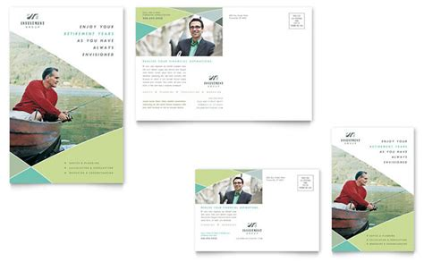 postcard advertising template financial advisor postcard template design