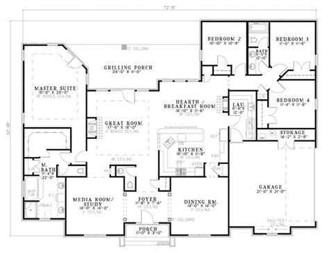ranch home floor plan bonaventure place ranch home plan 055d 0774 house plans