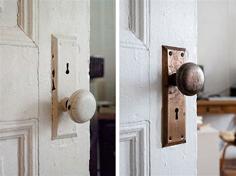 How To Clean Antique Door Knobs by Before After Cleaning Vintage Metal Hardware Design